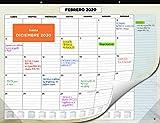 Calendario de Pared 2020 de SmartPanda – Calendario Mensual de Sobremesa – Noviembre 2019 a Diciembre de 2020 – Vista de un Mes – 33 cm x 43 cm