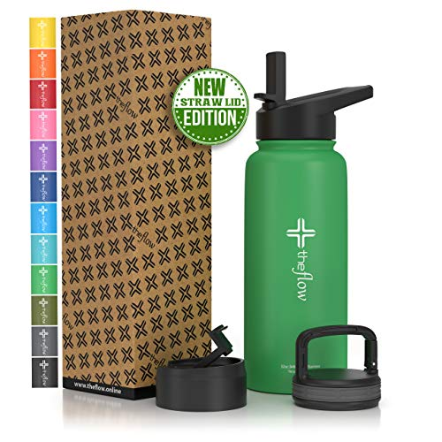 9. The flow Stainless Steel Water Bottle