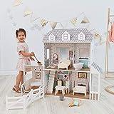 Teamson Kids- Maison de poupée, TD-12901A, Blanc/Gris