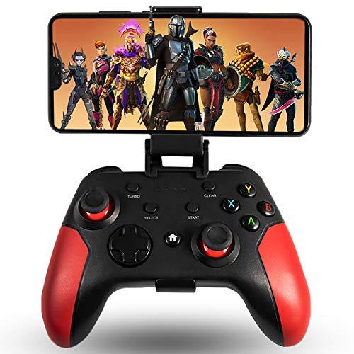 Maegoo Manette pour Android/PC/PS3, Manette Android Mobile sans Fil Bluetooth avec Support Rétractable, 2.4G sans Fil Manette PC/PS3/TV Gamepad Joystick avec Double Vibration