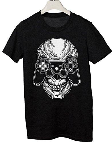 Tshirt Skull Gamer - Videogame - Gamer - 90's - Style - Fashion - Humor