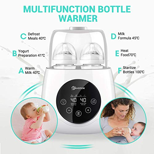 Baby-Bottle-Warmer-Steam-Sterilizer-EIVOTOR-6-in-1-Double-Bottle-Baby-Bottle-Warmer-LED-Display-Baby-Food-Rapid-Heater-Warm-Milk-Formula-Heat-Food-Defrost-BPA-Free