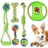 ACE2ACE Giochi per Cani, 6 pezzi Cane Resistenti Giochi di Giocattoli da Masticare per Cani Cuccioli di Piccola e Media Taglia, 100% Cotone Naturale Corda
