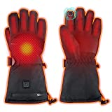 WAMTHUS Electric Heated Gloves, Warm Gloves for Men Women 3 Heating Temperature Adjustable...