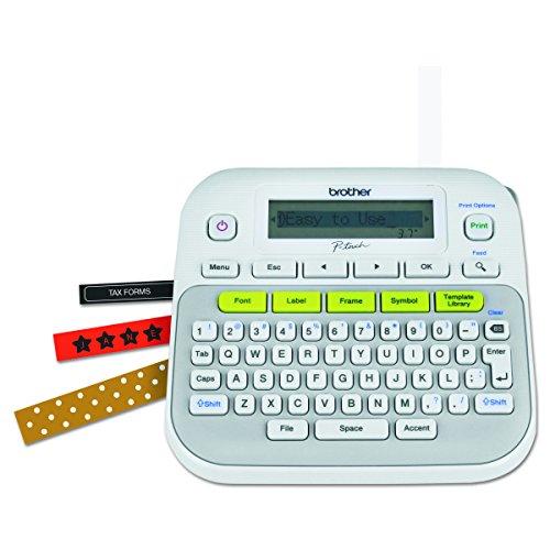 Brother PT-D210 - Impresora de etiquetas (LCD, Transferencia térmica, Manual, 180 x 180 DPI, Gris, Color blanco, QWERTY)