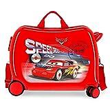 Disney Maleta Infantil Cars Speed Trails 2 Ruedas Multidireccionales, Rojo, 50 x 38 x 20 cm