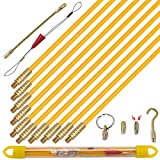 KOOTANS 11 ft Fiberglass Wire Running Kit Wall Cable Wire Fishing Rod Pull Push Tool Electrical Fish...