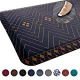 Anti Fatigue Comfort Floor Mat by Sky Mats -Commercial Grade Quality Perfect for Standup Desks, Kitchens, and Garages - Relieves Foot, Knee, and Back Pain (20x32x3/4-Inch, Indigo Deco)