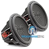 Pair of Soundstream T5.154 15' 1300W RMS 2600W Max (Each) Dual 4-Ohm Subwoofers