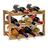 Relaxdays Casier à vin Range Bouteilles Horizontal 3 étages de...