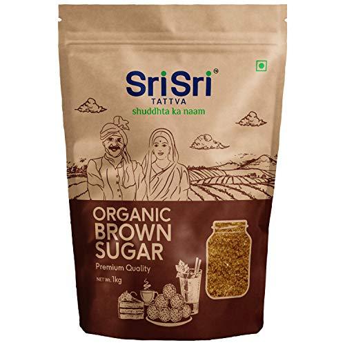 Sri Sri Tattva Organic Brown Sugar - 1kg (Pack of 1) - Natural & Refined Cane Sugar - Premium Quality - Rich in Minerals