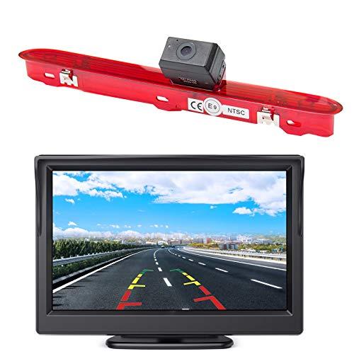 Telecamera posteriore HD 720p a colori 3° luce freno + monitor 4.3 pollici per fotocamera posteriore Peugeot Expert 3 Traveller Citroen Space Tourer Jumpy3 Toyota ProAce Verso 2016-2019