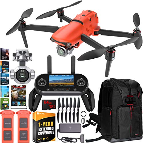 Product Image 1: Autel Robotics EVO 2 Pro Drone Folding Quadcopter with 6K HDR Video and Mapping EVO II Pro Extended Warranty On The Go Bundle w/ Extra Battery + OLED Remote Control + Travel Backpack + Software Kit