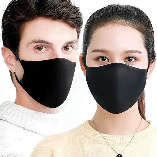 3 Pack Unisex Mouth Mask Reusable Anti Dust Face Mouth Mask Face Safety Mask for Cycling/Camping Travel - 100% Breathable, Reusable or Disposable