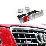 Badge de grille avant de voiture en forme de S Line pour A1/A3/A4L/A5/Q5,...