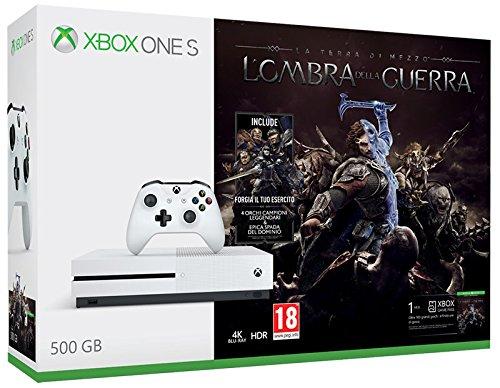 Xbox One: S 500GB + Shadow of War [Bundle]
