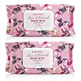 Ellen Tracy 2 Pack (60 Count Each) Face Wipes and Makeup Remover Wipes - Gentle, Facial Cleansing Wipes, Lightly Scented, Flip Top Pack - (Rose and Retinol)