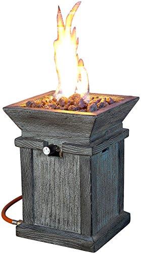 Carlo Milano Gasfeuerstelle: Kompaktes Gas-Heiz- & Dekofeuer für Terrasse und Garten (Feuerstelle Gas)