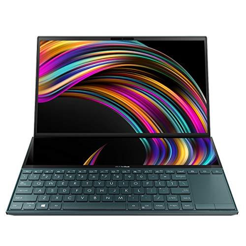 "ASUS ZenBook Duo UX481FL-BM044T - Portátil de 14"" (i7-10510U, 16GB RAM, 512GB SSD, GeForce MX250, Windows 10 Home) Metal Azul Celeste - Teclado QWERTY Español"