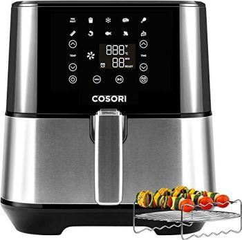COSORI Stainless Steel Air Fryer (100 Recipes, Rack & 5 Skewers), 5.8Qt