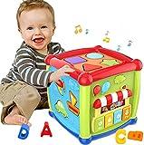 Apprentissage précoce Musique éducative et sortrique de forme colorée Jouets bébé jouets 12-18 mois Activité Cube jouets pour 1 Année bébé jouets 6 12 mois cadeau pour 1 2 3 ans Garçons et filles Enfa