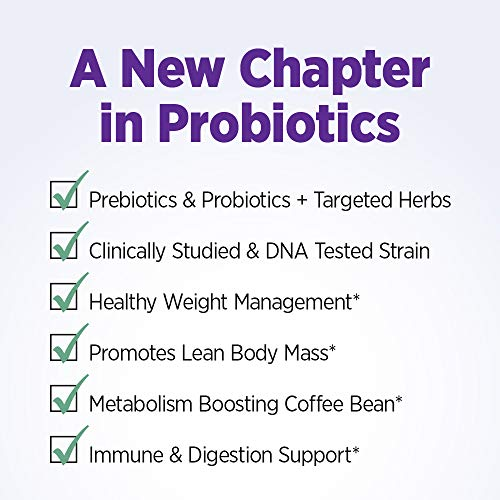 New Chapter Weight Management Probiotic, 60ct (2 Month Supply), Probiotics for Men & Women with Prebiotics and Probiotics + 100% Vegan + Soy Free + Non-GMO 6