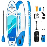 Bessport Inflatable Paddle Boards for Adults 11' x 33' x 6' Stand Up Paddle Board - for All Skill Levels with ISUP/SUP Accessories, Non-Slip Deck | Floatable Paddle | Wide Stance| Max Weight 330lbs