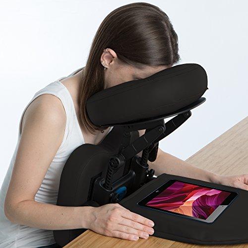 EarthLite Massagestuhl Travelmate - Massage Kit inkl. Gesichtskissen & Kopfpolster für jeden Tisch geeignet