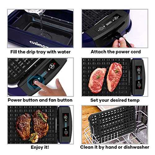 Product Image 5: Indoor Grill Electric Grill Griddle CUSIMAX Smokeless Grill, <a href=