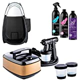 Aura Allure Spray Tan Machine Kit with Norvell Sunless Airbrush Tanning Solution and Professional Black Tanning Tent