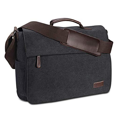 Umhängetasche Herren aus Vintagem Segeltuch, Premium Herrentasche, Laptoptasche für 15,6...