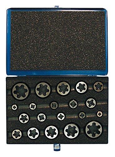 Cle-Line C67283 Hexagon Rethreading Die Set, M6 x 1, M8 x 1.25, M10 x 1.5, M12 x 1.75, M14 x 2, M16 x 2, M20 x 2.5
