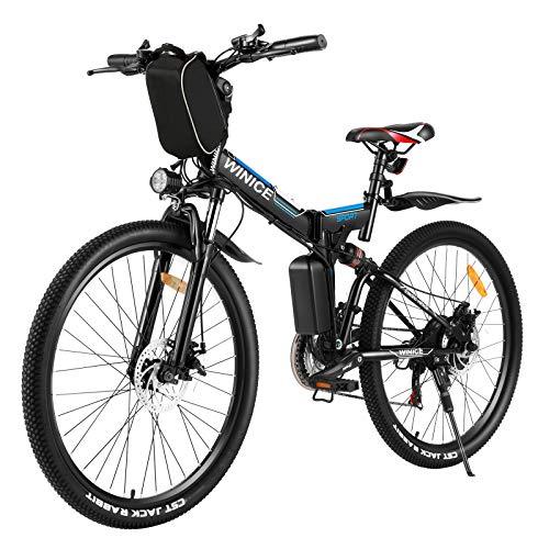 Vivi Vélo Électrique Pliant pour Adultes, Vélo De Montagne Électrique Pliant 26 Pouces E-Bike 250W Moteur Professionnel Shimano 21 Vitesses avec Batterie Lithium-ION Amovible 36V 8Ah