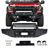 OCPTY Front Bumper with D-ring & LED Lights & Winch Plate fit for 2009-2014 for ford F-150 (Texture Black)