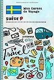 Suede Carnet de Voyage: Journal de bord avec guide pour enfants. Livre de...