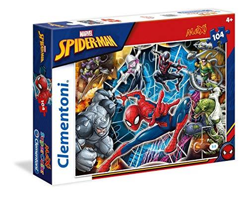 Clementoni- Spiderman Supercolor Puzzle, 104 Pezzi, 23716