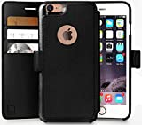 LUPA iPhone 8 Wallet Case, Durable and Slim, Lightweight with Classic Design & Ultra-Strong Magnetic Closure, Faux Leather, Black, Apple 8 (2017)