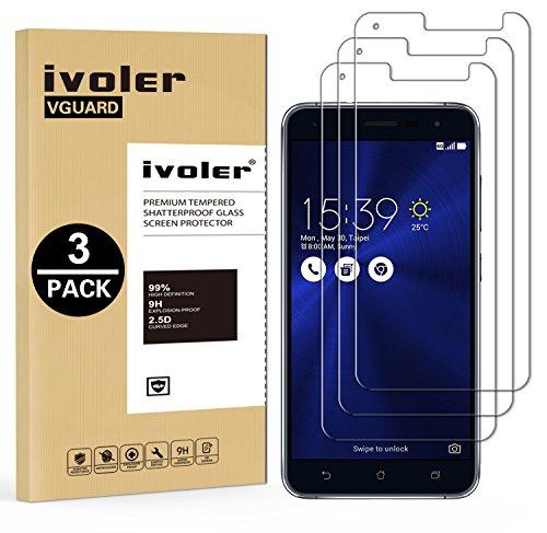 iVoler [3 Pack] Pellicola Vetro Temperato per ASUS Zenfone 3 ZE520KL 5.2' [Garanzia a Vita], Pellicola Protettiva, Protezione per Schermo