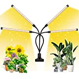 EZORKAS LED Growth Light, Four Head Timing,5 Dimmable Levels, Plant Grow Light for Indoor Plant with...