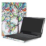 Alapmk Protective Case Cover For 14' Lenovo Flex 14 Flex-14IWL Flex-14API/Flex 5 14 1470/Flex 6 14 6-14IKB 6-14ARR/Ideapad C340 14 C340-14API Laptop(Note:Not fit Flex 5 15/Flex 6 11/Flex 4),Love Tree