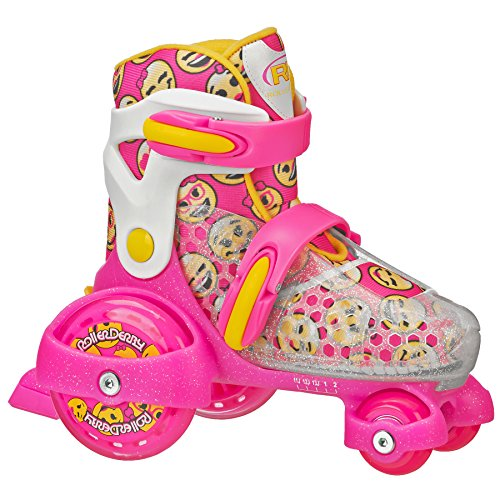 Roller Derby Girl's Fun Roll Adjustable Roller Skate, Small (7J-11)