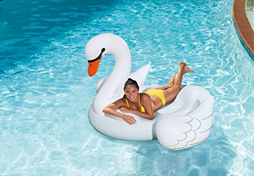 Summer Palms Giant Swan Lounge Pool Float, 78' x 63' x 51.5'