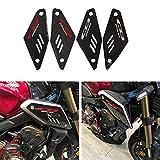 BLOUR para Honda CB650R Pegatina Lateral del Cuerpo CB 650R 2019 2020 Nueva Motocicleta Impermeable 3D Fibra de Carbono protección de Fuente Reflectante