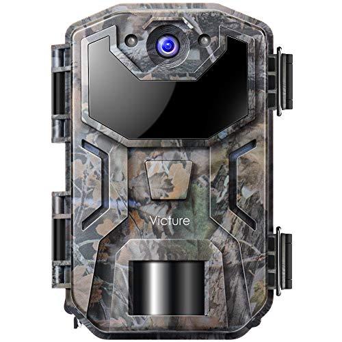 Victure Caméra de Chasse 20 MP avec détecteur de Mouvement Vision Nocturne 1080P Caméras avec Infrarouge Lumière légère IP66 Étanche pour la Chasse et l'observation des Animaux