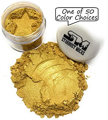 MICA POWDER COSMETIC GRADE- Queens Gold pigment powder MICA PIGMENT POWDER - Color true in cold and hot process, melt and pour mica for soap making, epoxy mica powder for resin, cosmetics, kintsugi, epoxy, nails kit, inlay powder projects GOLD MICA P...