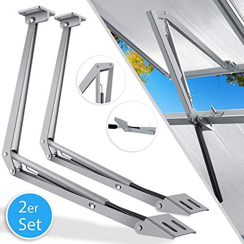 Kesser® 2X Automatischer Fensteröffner für Gewächshaus 7,5 kg Hubkraft 45cm Öffnungshöhe stufenloser Öffnungswinkel Fensterheber automatisches Öffnen und Schließen durch Temperatursteuerung