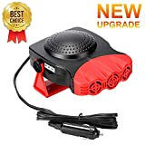 Car Heater,Auto Heater Fan,Car Defogger, Fast Heating Quickly Defrosts Defogger 12V 150W Auto Ceramic Heater Fan 3-Outlet Plug in Cig Lighter