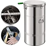 BestEquip Manual Honey Extractor 2 Frame Bee Extractor Stainless Steel...
