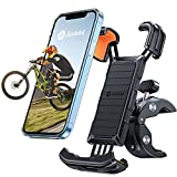Andobil Bike Phone Mount, 【Full Protection & Super Stable】 Motorcycle Phone Mount Universal Handlebar Bicycle Cell Phone Holder Compatible with iPhone 12/12 Pro Max/11/X/8 Galaxy S21/Note20 and More