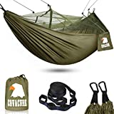 COVACURE Camping Hamac Set avec Moustiquaire, 2 Sangles D'arbres Carabiners...